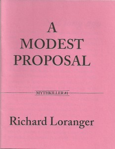Modest Proposal - front