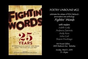 FLYER with HEADSHOTS - Poetry Unbound #22 - March 1 2015
