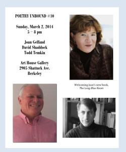 FLYER with HEADSHOTS - Poetry Unbound #10 - March 2 2014