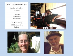 FLYER with HEADSHOTS - Poetry Unbound #14 - July 6 2014