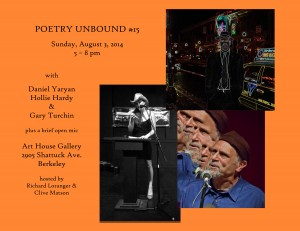 FLYER with HEADSHOTS - Poetry Unbound #15 - August 3 2014 (wild)