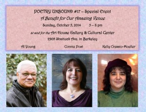 FLYER with HEADSHOTS - Poetry Unbound #17 - October 5 2014