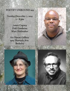 FLYER with HEADSHOTS - Poetry Unbound #19 - December 7 2014