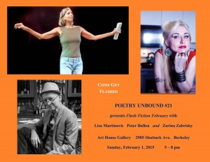 FLYER with HEADSHOTS - Poetry Unbound #21 - February 1 2015