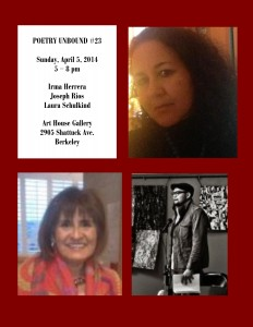 FLYER with HEADSHOTS - Poetry Unbound #23 - April 5 2015