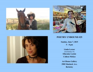 FLYER with HEADSHOTS - Poetry Unbound #25 - June 7 2015