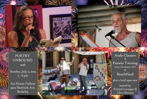 FLYER with HEADSHOTS - Poetry Unbound #26 - July 5 2015