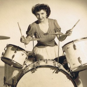 Bobbi Morrison on drums - circa