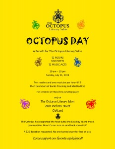 Octopus Day flyer (2) - print on white